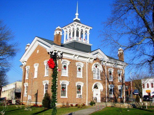 Coffee County Courthouse at Christmas