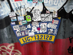 Stickers - San Francisco, Ca (EndlessCanvas.com) Tags: street pez art valencia gold graffiti san francisco mr tofu stickers first prince fresh safety age sewage carl fuckin 42 broke gusto stay splat lousy thr abno deadeyes bvrs