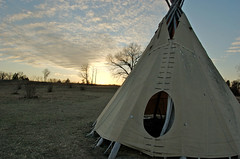 Teepee at Shaw Nature Reserve