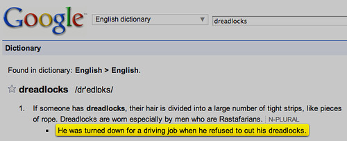 Google Definition Insults People