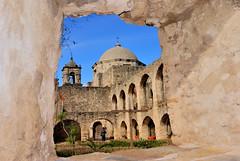 Framed In Stone (Tap0) Tags: window america san texas natural jose tokina mission antonio 1224 naturalwindow nikond80