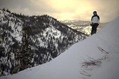 Squaw Valley (Ian Norman (Lonely Speck)) Tags: winter white snow ski cold amber skiing squawvalley skier slope squaw