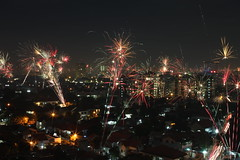 Happy New Year from Jakarta, Indonesia (SangHoon Pak) Tags: city canon indonesia asia jakarta  500d     me2photo pocketuploader