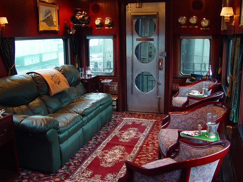 Private Rail Car Metis - interior lounge