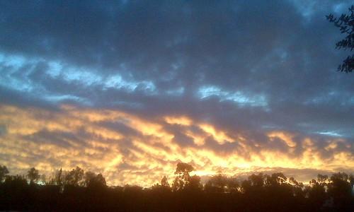 fiery sunrise in scripps ranch