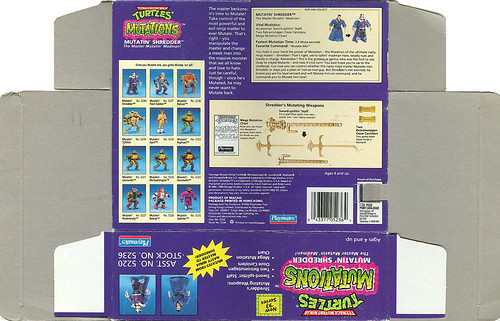 "Teenage Mutant Ninja Turtles ""MUTATIONS"" :: MUTATIN' SHREDDER .. box iii (( 1993 ))"