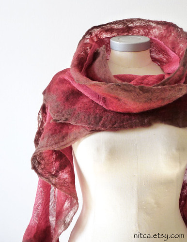 red felted silk