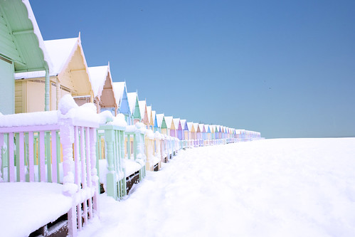 mersea in the snow by Jo Ingate