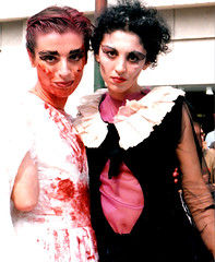 Bloody Mary - Chicago 2000 (tacosnachosburritos) Tags: street gay jockstrap chicago black boys girl beautiful leather hair town poser chains shoes platform pride bondage parade teen heels bloody undies bitches crossdresser halsted whips freaks
