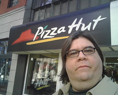 I'm at the Pizza Hut