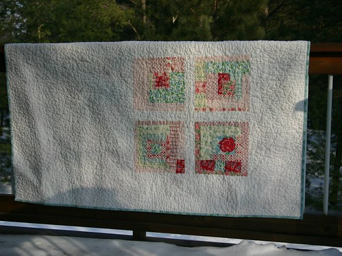 Swell Snowball Quilt - back