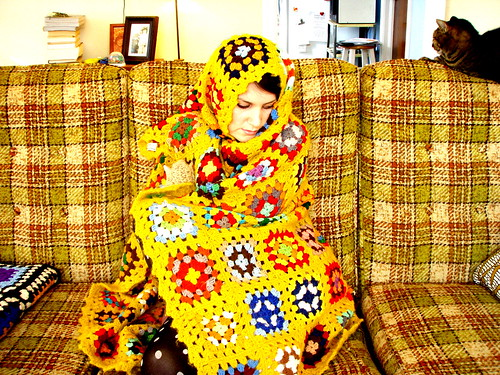 kitty cats and granny squares
