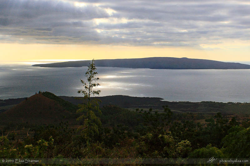 View of Molokini from southern coast of Maui by Elisa Sherman | photosbyelisa.com