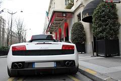 Lamborghini LP 560-4 Spyder - Paris (12-2009) (Automartinez) Tags: white paris canon 4 spyder pots v lp nol blanche 75 lamborghini 2009 alban v10 gallardo decembre cabriolet 500d joachin goerge 5604 automartinez 560ch