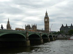 The Thames and Ben (melabella3) Tags: bridge england london clock river gold bigben thamesriver