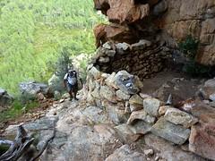 Vire du Castellu : au début de la vire à l'abri-bergerie