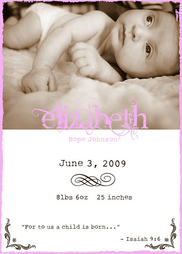 Birth Announcement- Girl2
