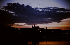 1978 Prague Castle (beranekp) Tags: sunset castle czech prague prag praha hrad burg hradany
