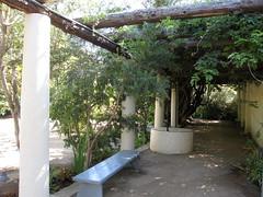 Monterey (dimaruss34) Tags: california shadow tree bench monterey log pillar historicpark pacifichouse passgeway