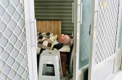 Don't worry he's only sleeping (I hope) (deepstoat) Tags: street film zeiss 35mm dead taiwan snooze asleep stiff contaxg2 kodakportra deepstoat