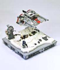 Battle of Hoth I (Marshal Banana) Tags: starwars lego hoth moc snowspeeder