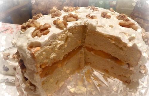 yummy cake,delicious no-bake cake,tempting mango cake
