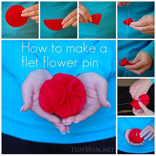 Felt Flower Pin {How to}
