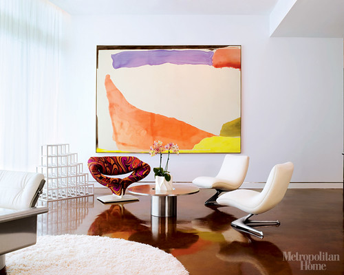 abstract art interiors