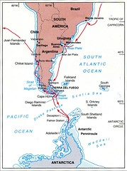 871225 Antarctic Voyage Map (rona.h) Tags: chart map 1988 antarctica antarctic cloudnine ronah chileanchannels