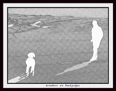 ember és kutyája / man and his dog (debreczeniemoke) Tags: winter dog snow man hiking ember kutya hó tél túra
