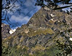 Reflected Mountain, Reflecting Lakes (Ian@NZFlickr) Tags: road trip reflecting lakes u nz milford aotearoa southland teana