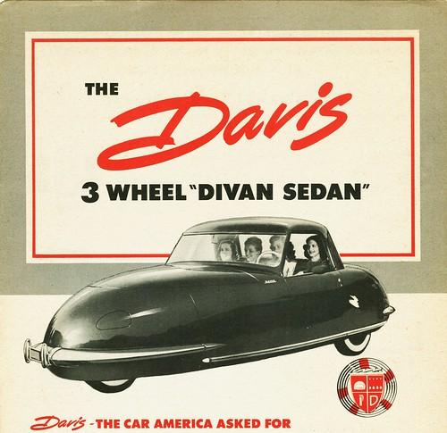 1948 Davis 3-Wheel Divan Sedan