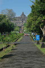 First view of Borobudur