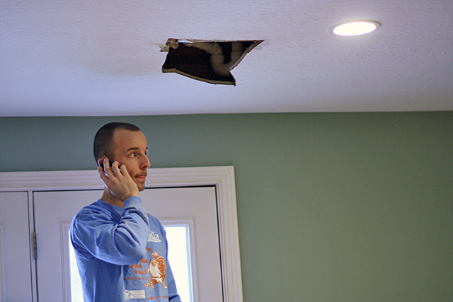 hole in the ceiling