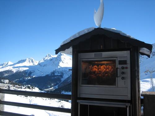 Rotisserie Chickens outside Alpenblick