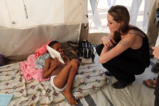 UNHCR News Story: New Video of Angelina Jolie in Haiti by UNHCR
