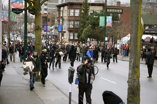 Vancouver 2010: Robson Street Protesters