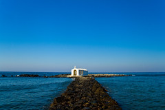 Church on the Ocean (Michael Rugosi) Tags: ocean church water greek rocks path greece