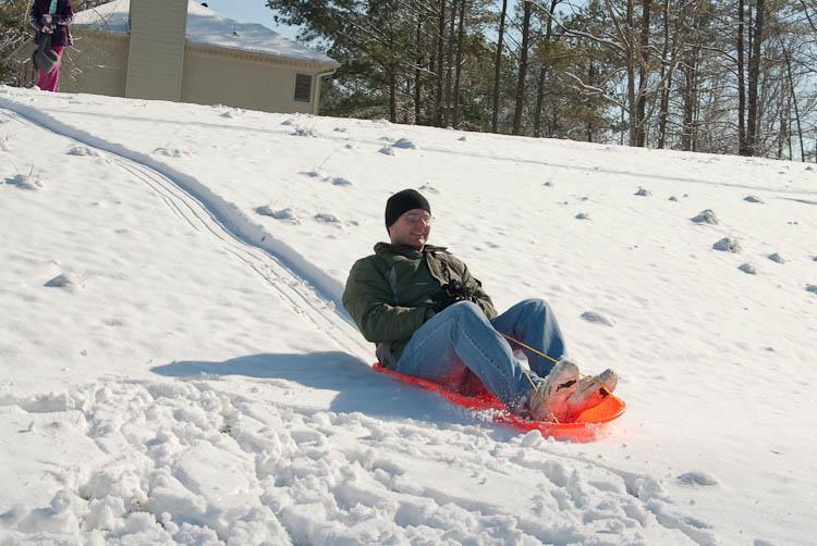 Ken sledding