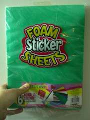 Foam sticker sheets