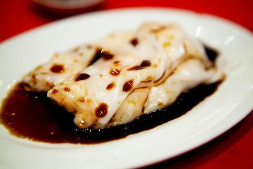 Shrimp rice noodles rolls (ha cheong fun)