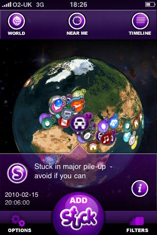 Stuck globe