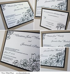 Signature Crush (Shanon Medley Designs) Tags: wedding light summer brown white black flower color green art fall water floral leaves rose glitter modern daisies pen ink garden watercolor leaf spring gate colorful hand bright metallic lexington kentucky ky unique painted tan announcement savethedate shannon invitation card handpainted sunflower daisy bloom designs hydrangea fold chic pocket drawn shanon bi accents gerber shimmer patterned medley layered gatefold pocketfold bifold shanonmedley paintingsbyshanon