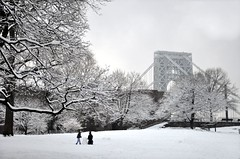 J. Hood Wright Park (Trish Mayo) Tags: park winter snow newyork j manhattan gothamist georgewashingtonbridge washingtonheights buildingasnowman jhoodwrightpark nyca2z noncoloursincolour thebestofday gnneniyisi