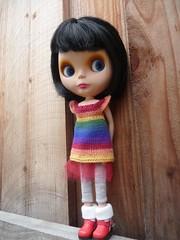 Her new rainbow dress
