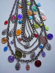 (eclectic gipsyland) Tags: angel religious necklace mary saints medal virgin colored eclectic bohemian multi gipsy miraculous eclecticgipsyland gipsyland