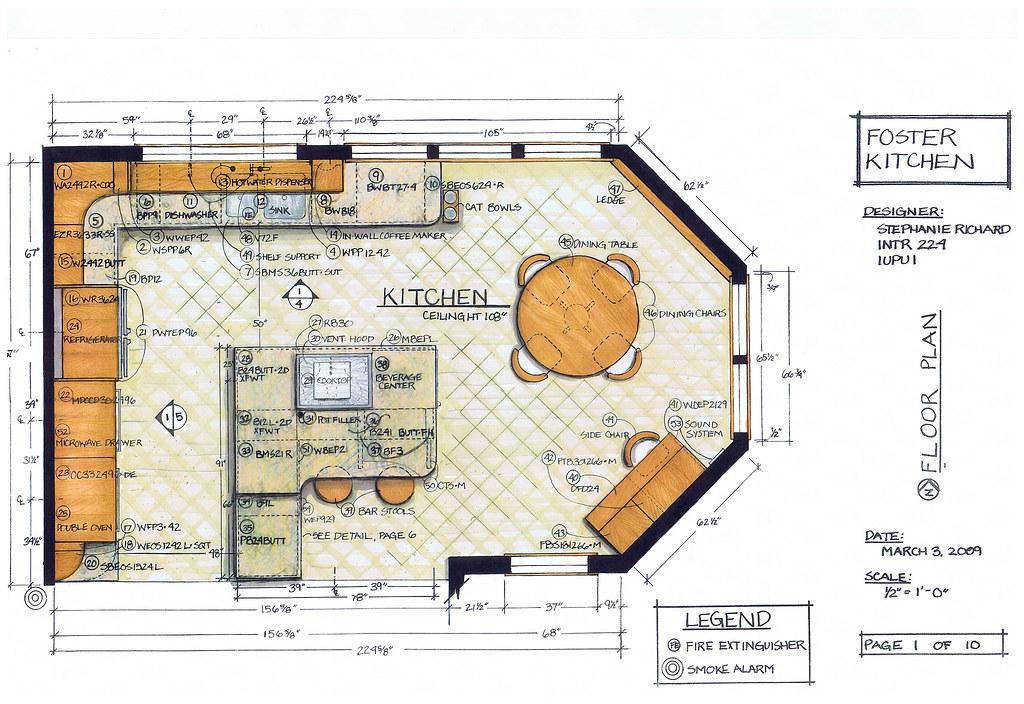 Foster Kitchen Design Floor Plan