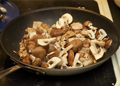 Cooking Mushrooms and Bacon