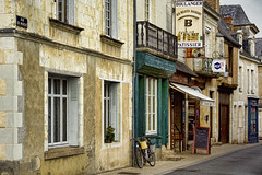 Baug, France (sminky_pinky100 (In and Out)) Tags: street travel france tourism bicycle french town europe scenic shops patissier boulanger 5photosaday omot baug citrit