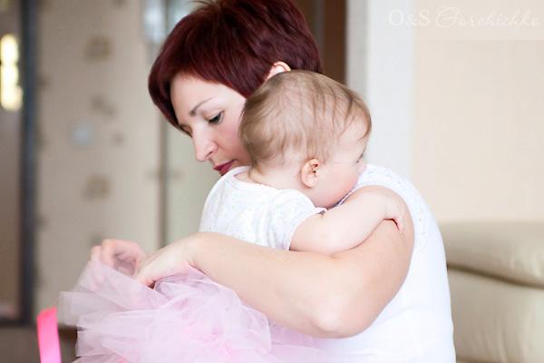 Олюшка с мамой Людой